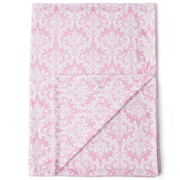 Minky Baby Blanket 30 Quot X 40 Quot Pink Damask Pattern