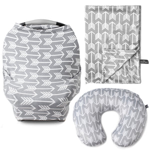 Arrow Bundle - Multi Use Carseat Cover, Nursing Pillow Cover, & Blanket