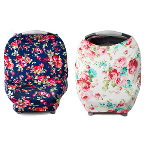 Floral Multi Use Cover Bundle - Navy + White Floral