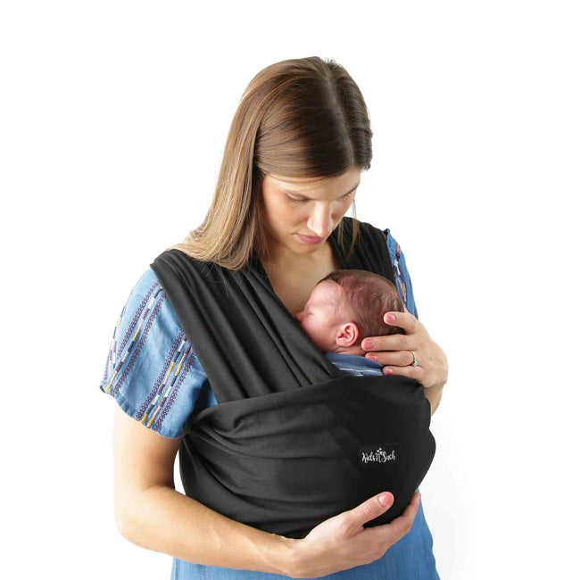 4 in 1 Baby Wrap Carrier and Ring Sling in Black