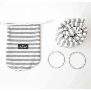 4 in 1 Baby Wrap Carrier and Ring Sling - Gray and White Stripes
