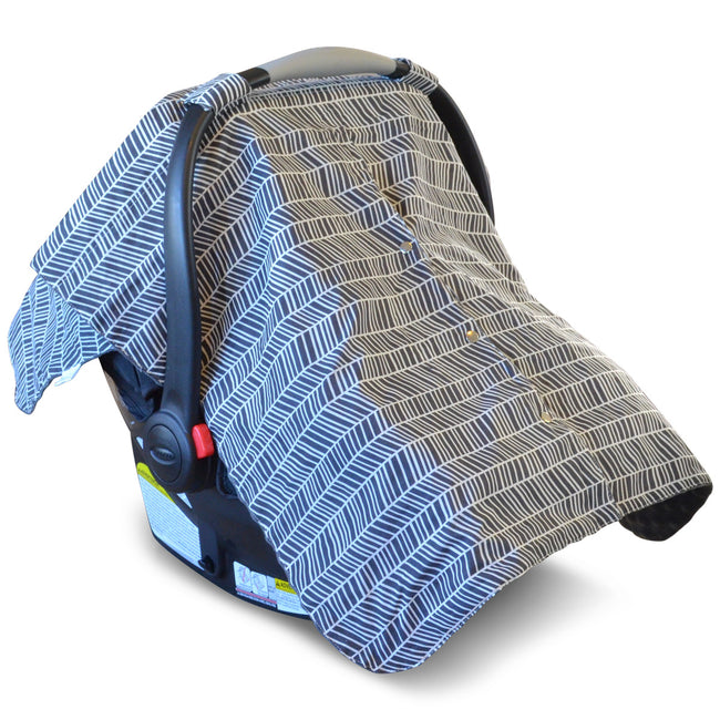 Multi-use carseat cover with pattern