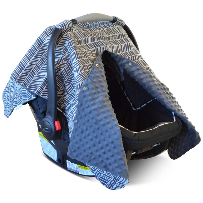 Multi-use carseat cover with peekaboo opening