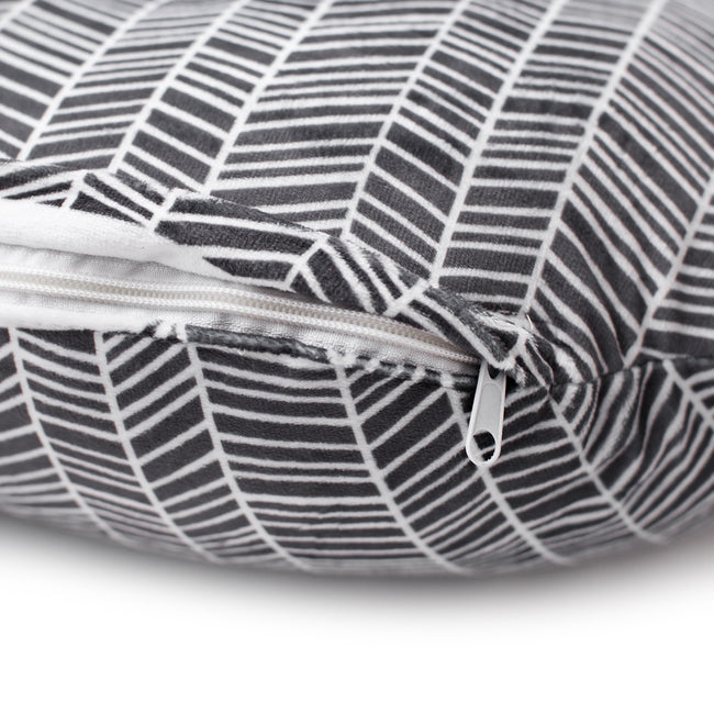 Nursing pillow cover in Herringbone pattern