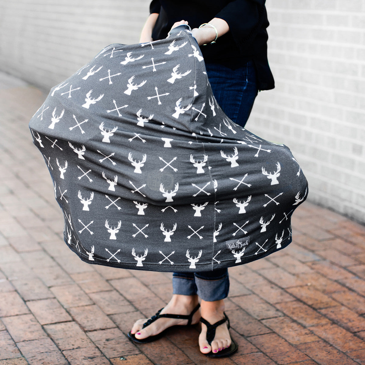 3 In 1 Car Seat Canopy Nursing Cover Shopping Cart Cover In