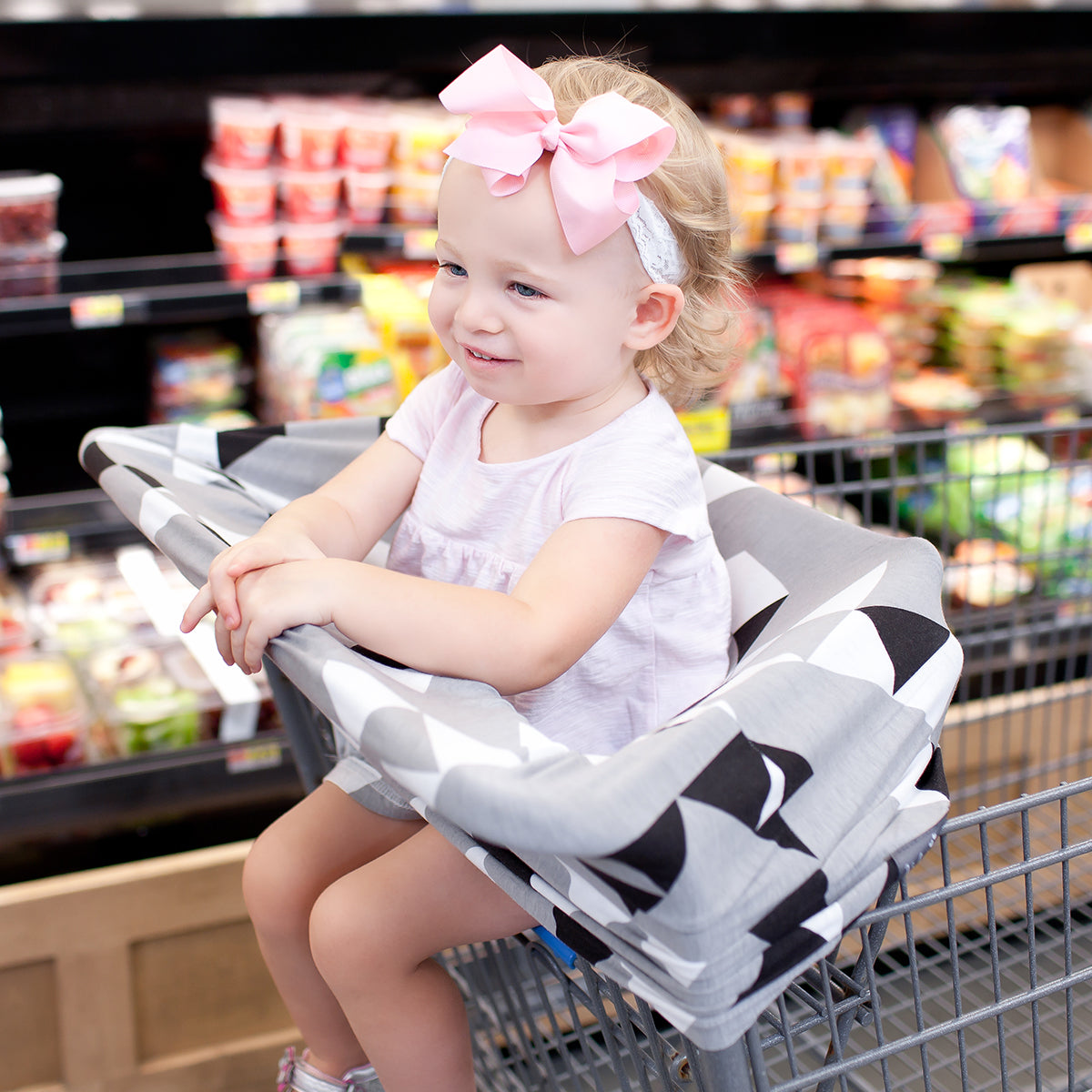 Stretchy Multi Use Car Seat Canopy Nursing Cover Shopping Cart In Grey