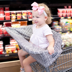 Stretchy Multi-use Car Seat Canopy + Nursing Cover + Shopping Cart Cover in Herringbone Print