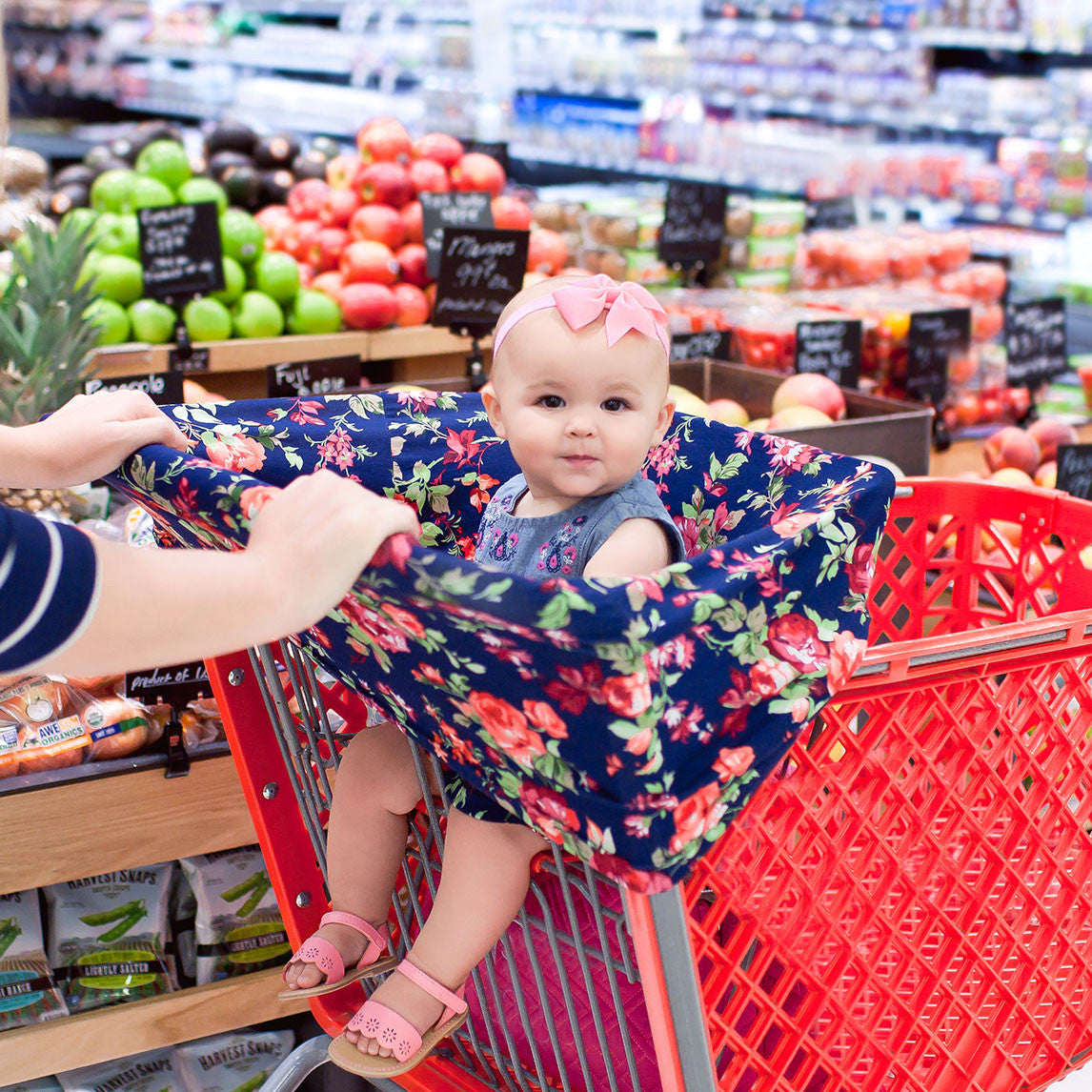Image result for baby shopping cart cover