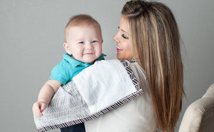 Nursing Cover with Built-in Burp Cloth + FREE Pouch | Herringbone