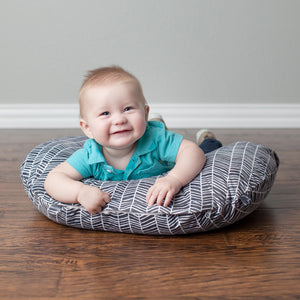 Minky Nursing Pillow Cover | HerringBone Pattern Slipcover