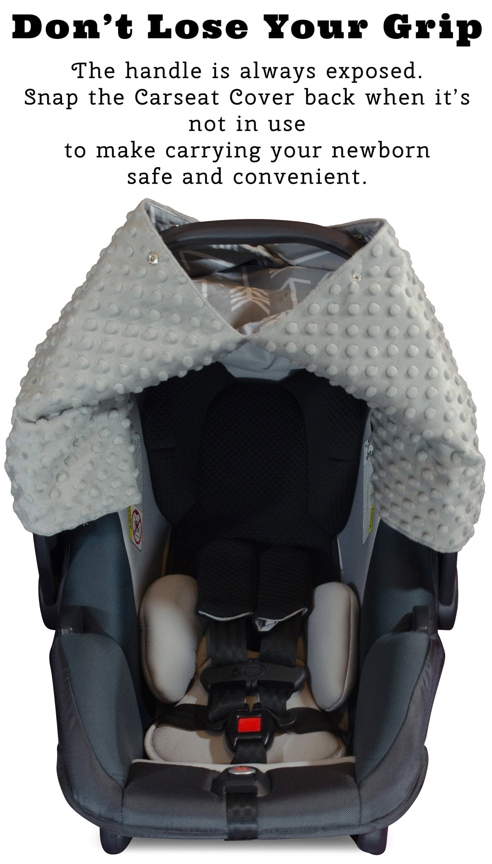 Brilliant Arrow Car Seat Canopy With Grey Dot Minky And Peekaboo Opening Forskolin Free Trial Chair Design Images Forskolin Free Trialorg