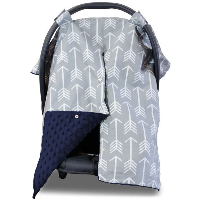 Peekaboo™ Car Seat Canopy- Arrow, Navy