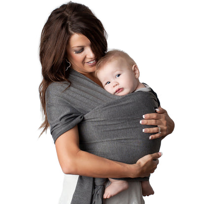 4 In 1 Baby Wrap Carrier And Ring Sling Charcoal Gray