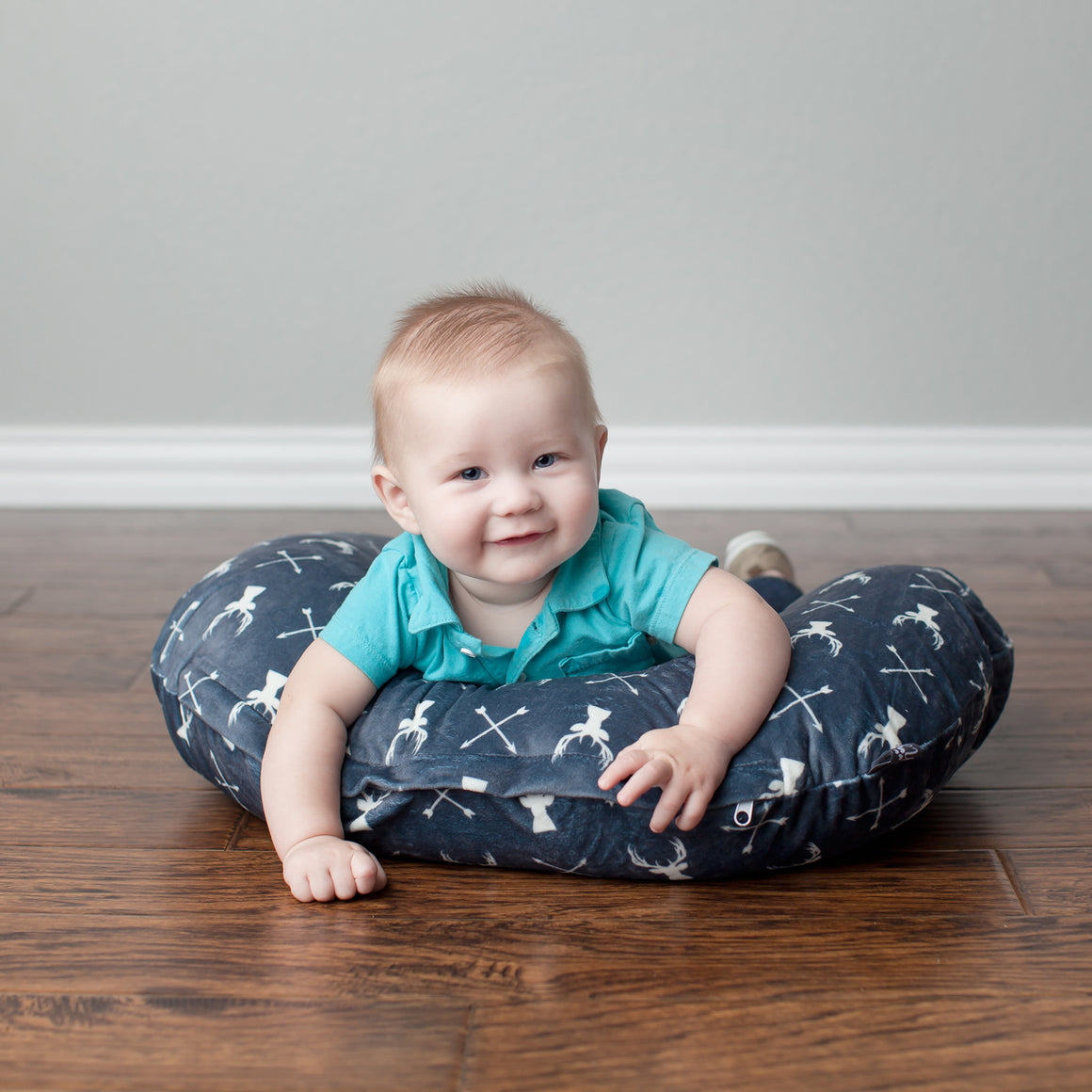 Minky Nursing Pillow Cover | Deer Pattern Slipcover