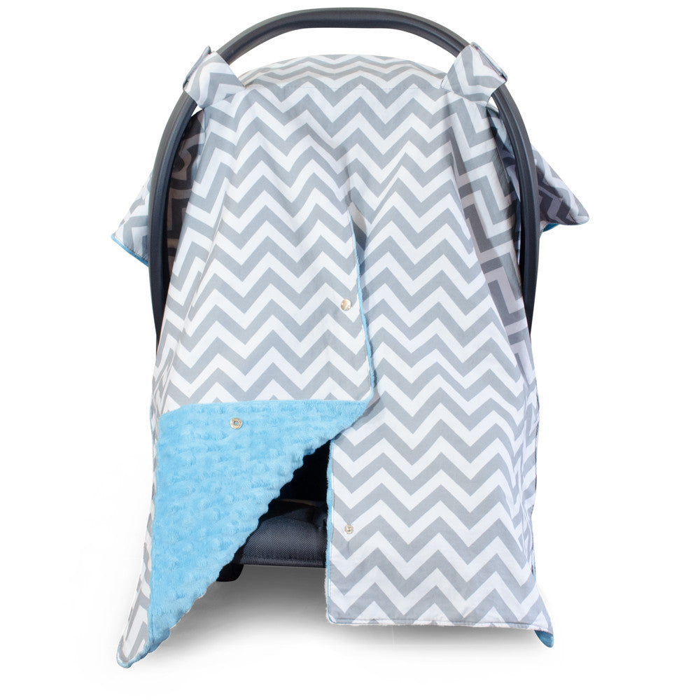 Chevron Car Seat Canopy With Peekaboo Opening Free
