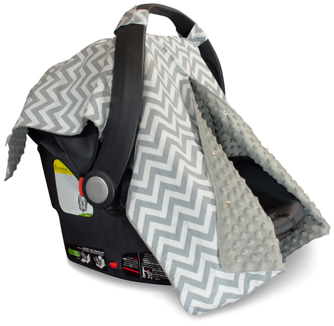 Chevron Car Seat Covers with Peekaboo Opening