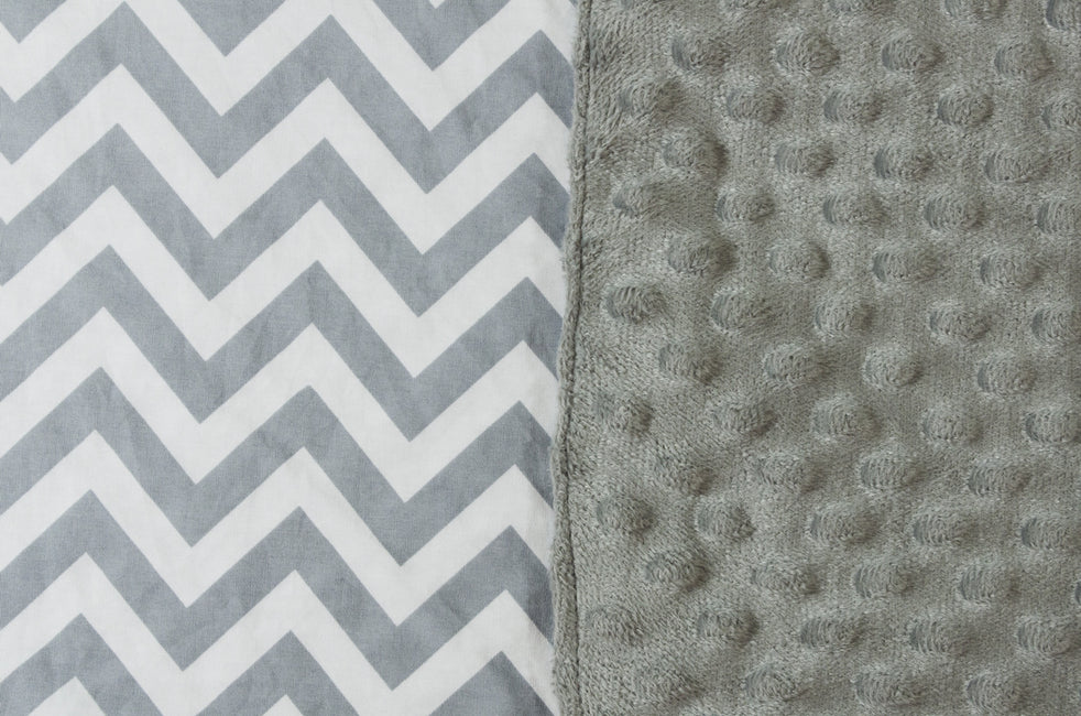 Car Seat Covers With Grey Dot Minky