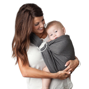 4 in 1 Baby Wrap Carrier and Ring Sling - Charcoal Gray