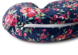 Minky Nursing Pillow Cover | Navy Floral Pattern Slipcover