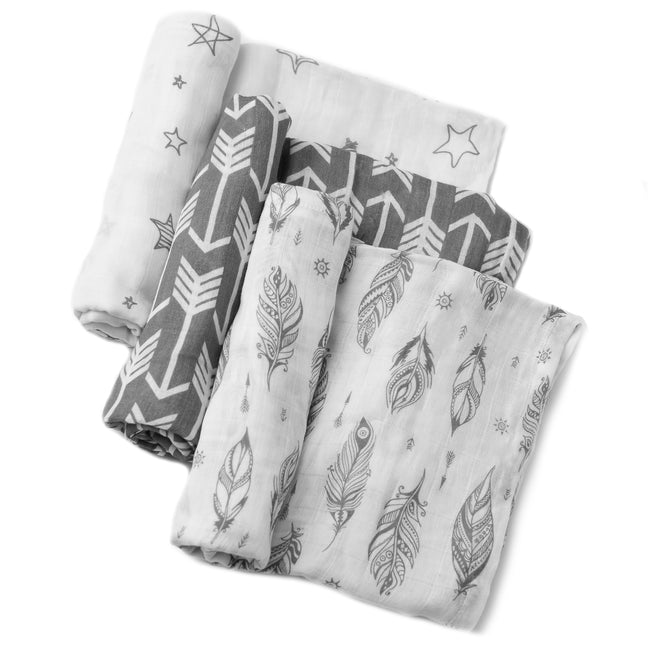 Muslin blankets and swaddle blankets for baby.