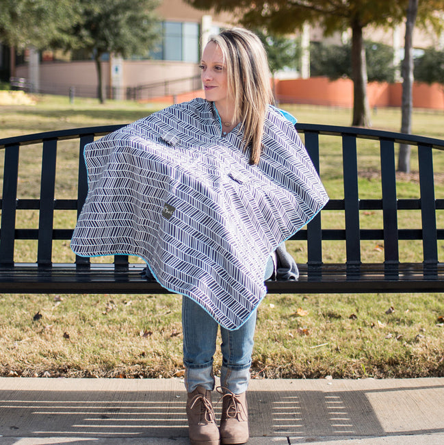 Herringbone Car Seat Canopy can be use as nursing cover