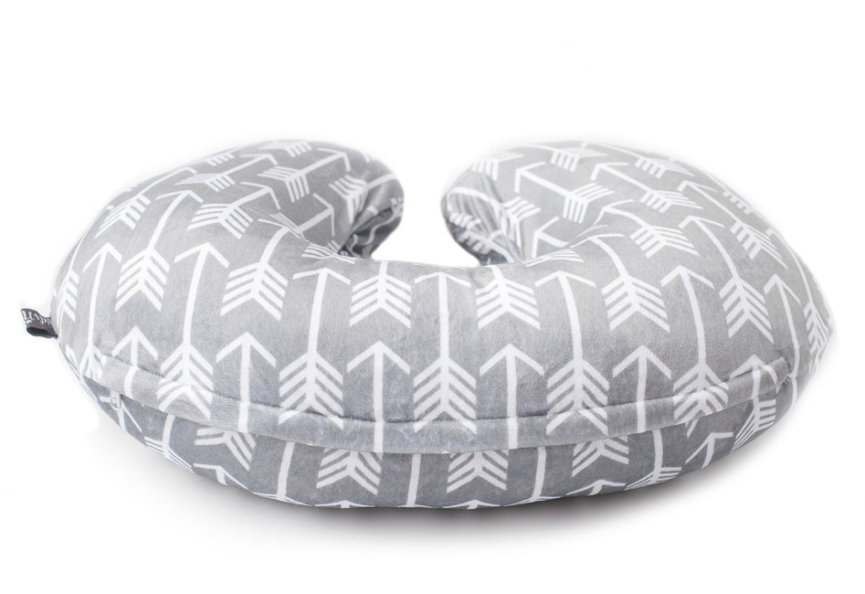 Nursing Cover in Grey and White Color