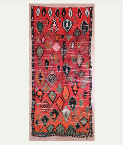 Red Azilal Rug 280 x 130cm