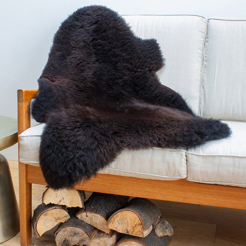 Organic British Sheepskin Black/Brown