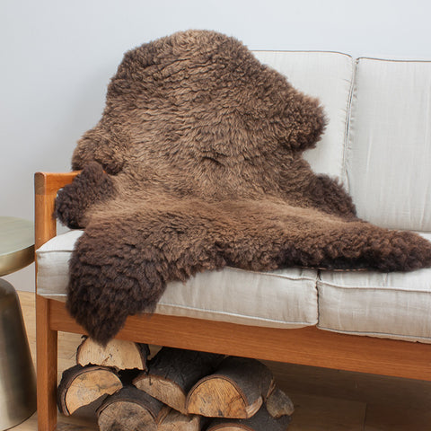 Organic British Sheepskin Chocolate Brown