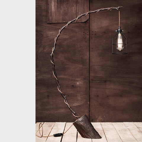 branch wooden table lamp felled light