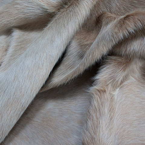 Cowhide - beige and white
