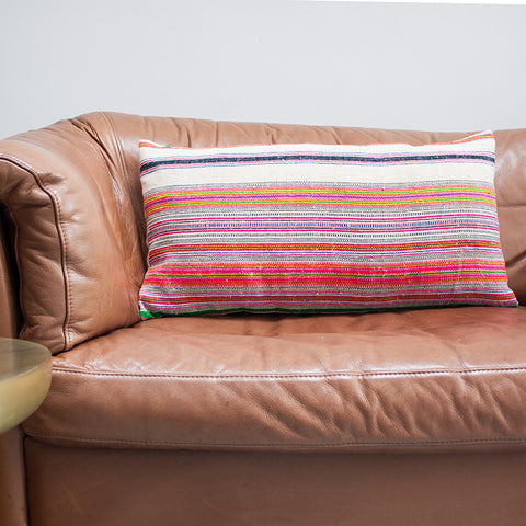 Striped Hemp Cushion