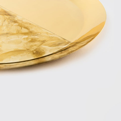 Tarnished brass tray