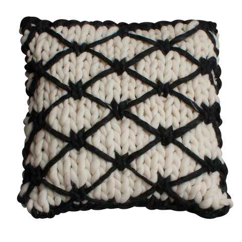 hand knitted cushion beni ourain style