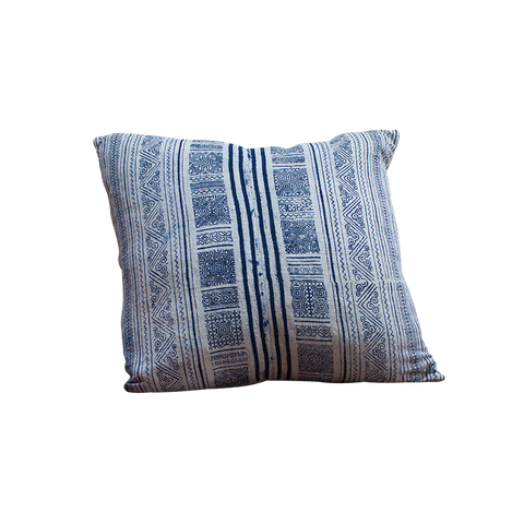 Vintage indigo cushion – Nancy