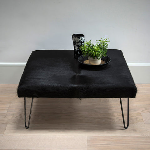 Cowhide ottoman - Billy