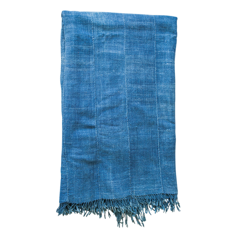 Vintage indigo throw