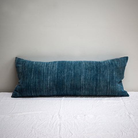 Antique indigo bolster - Arnold