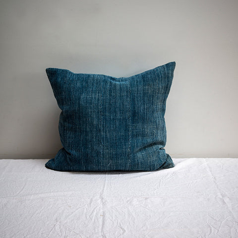 vintage indigo cushion