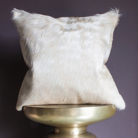 pale cowhide cushion palomino
