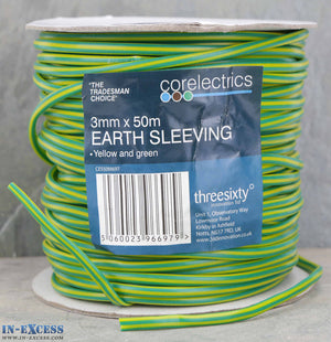 Corelectrics 3mm x 50m Earth Sleeving