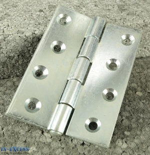 "10x Heavy Duty Double Pressed Butt Hinge 100mm (4"") Bright Zinc Plated B10831"