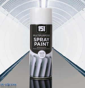 151 Multipurpose Professional Spray Paint - Gloss White 400ml