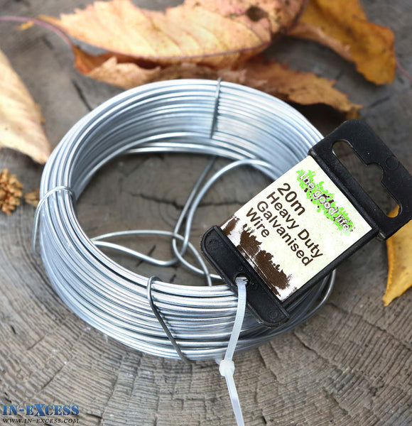 80 Metres (4 x 20m) Heavy Duty 2mm Galvanised Garden Metal Fencing Wire