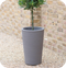 35cm Varese Medium Planter Granite - 32L