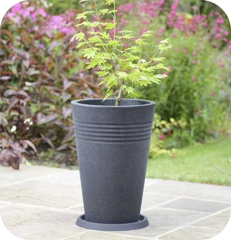 35cm Round Piazza Tall Planter - 24L