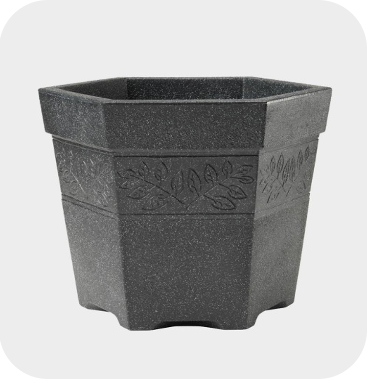 45cm Sylvan Hexagonal Planter - 27L