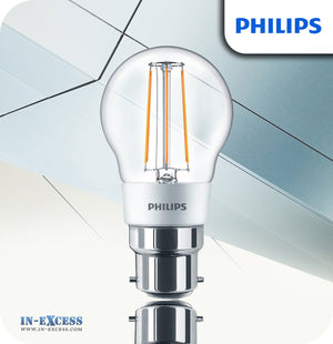 Philips Dimmable LED Bulb 4.5W (40W) P45 B22 820 Clear - Warm White