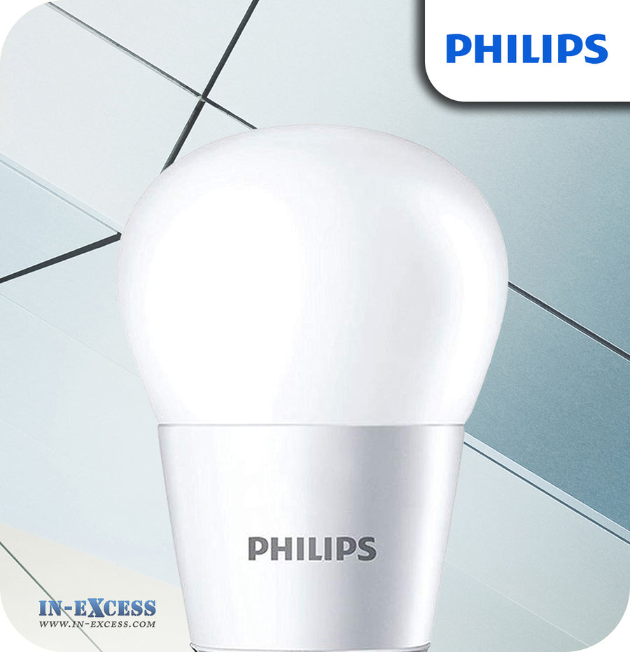 Philips LED Lustre Bulb 4W (25W) P45 B22 Frosted - Warm White