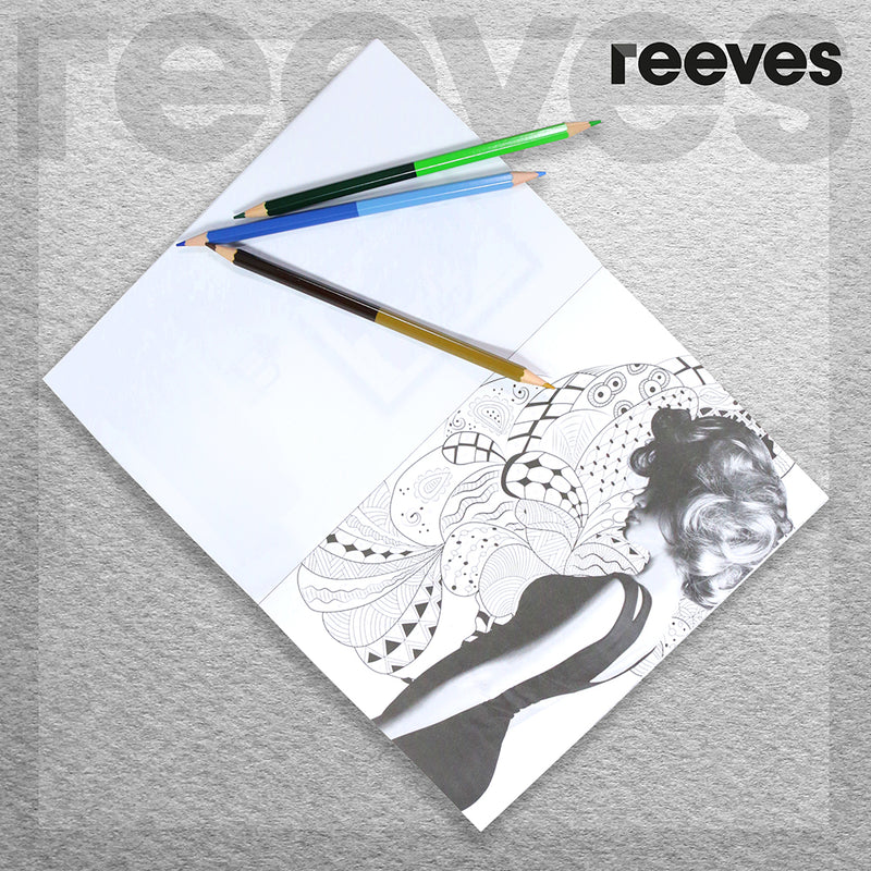 Reeves Colour by Numbers - Flash Photography Colouring Book and Pencils